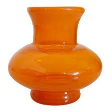 Vintage Orange Glass Vase Vintage Swedish Orange Glass Vase By Erik Höglund For Boda At 1stdibs