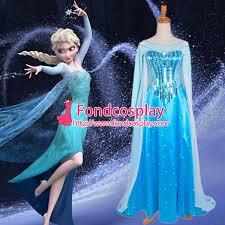 princess elsa dress girls children movie cosplay costume