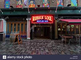 the rubber soul a beatles themed bar in mathew st liverpool uk