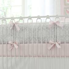 Pink And Brown Damask Crib Bedding Pink And Gray Damask Crib Bedding Baby Bedding For In Pink