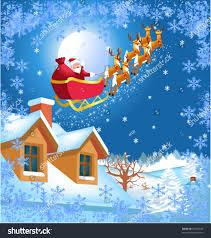 santa claus his reindeer stock vector 40355530 shutterstock