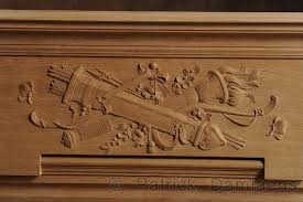 ornamental woodcarver damiaens wooden mantelpiece with