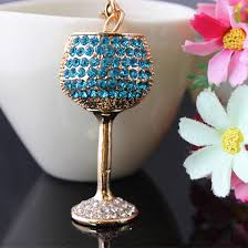 wine glass keychain online shop 2015 new wine glass keychain rhinestone key