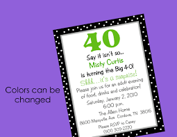 how to make 40th birthday party invitations u2014 all invitations ideas