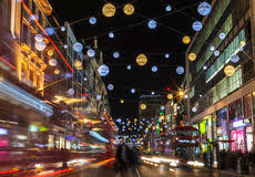 lead free christmas lights oxford street christmas lights in london editorial image image of