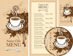 menu design of cafe set of design elements for the cafe royalty free cliparts vectors