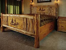 Cheap Log Bed Frames Log Bed Headboards Regarding Best 25 Frame Ideas On Pinterest