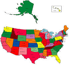 United States Map With Alaska by Us Map State Capitals And Major Cities Tragomme Usa 50 Etats