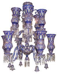 Antique Glass Chandelier Antiques Art Vintage