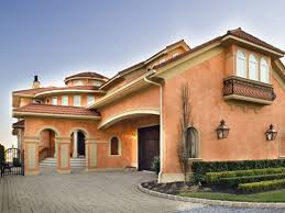 Mediterranean Homes Plans Single Story Stucco House Colors Exterior Homes On Mediterranean