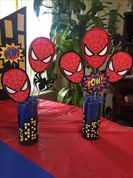 Centerpieces Birthday Tables Ideas by 25 Best Spider Man Birthday Ideas On Pinterest Spiderman