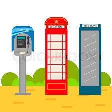 telephone booth telephone booth set modern and style phone boxes on