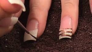 acrylic nails tutorial white glitter tips with animal print