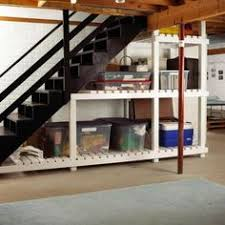 storage for under the basement stairs folding chairs cooler