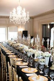 30th Birthday Dinner Ideas Black Gold White Table Setting By Nancy Lu Chin Florals