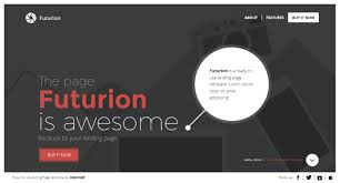 futurion a landing page template ready for your upcoming products