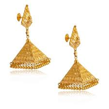 gold jhumka earrings design with price jhumki