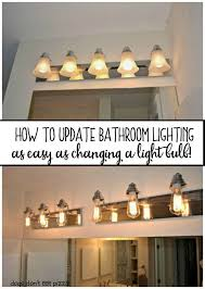 How To Replace A Bathroom Light Fixture How To Update Bathroom Lighting It S As Easy As Changing A