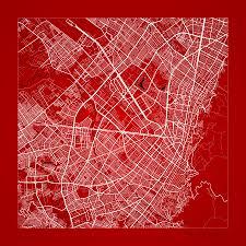 Bogota Colombia Map South America by Bogota Street Map Bogota Colombia Road Map Art On Color Digital