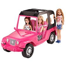 pink toy jeep barbie pink passport schwestern jeep dxh30 mattel toys