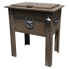 Rustic Patio Furniture Texas by Leigh Country 54 Qt Texas Star Country Cooler Walmart Com