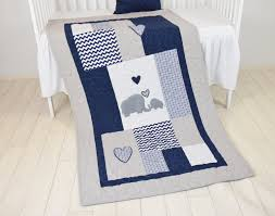 Navy Blue Chevron Crib Bedding by Elephant Baby Blanket Blue Gray Navy Quilt Crib Bedding Chevron