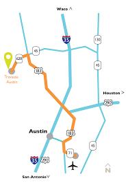 Austin Map by Austin Texas Resort U0026 Spa Travaasa Austin Directions