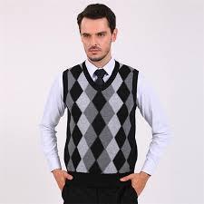 get cheap mens argyle sweater vest aliexpress