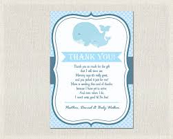 thank you cards baby shower nautical baby shower thank you card nautical blue whale thank you