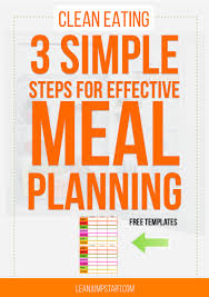 diet planner template clean eating meal plan 3 simple steps for a healthier menu planning clean eating meal plan simplify meal planning with free template