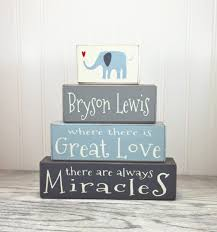 wooden nursery sign elephant nursery sign personalized gift