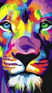inspiring colorfull lion art ongoing graphic designing