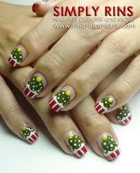 nail art tutorial christmas tree cupcakes simply rins