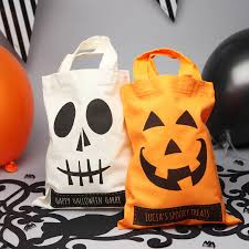personalized trick or treat bags personalised trick or treat bags spooky