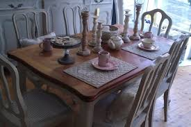 painted shabby chic furniture farmhouse table oak extedning table