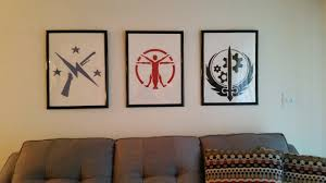 made some fallout paintings for my living room fo4