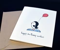 penguin birthday card elsie j prints