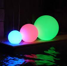 led pool balls illuminated floating pool goglow