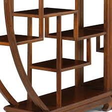 chinese circular display shelf warm elm bookcases and shelves