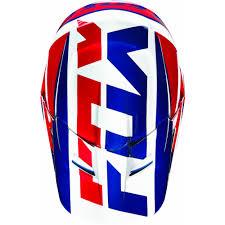 fox v1 motocross helmet fox v1 mako helmet blue white 2016 mxweiss motocross shop