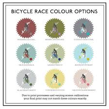bicycle race personalised print by betsy benn notonthehighstreet com