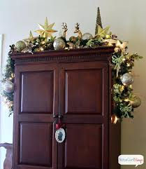 decorate top of kitchen cabinets for christmas modern farmhouse