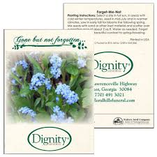 forget me not seed packets forget me not seed packets custom promotional products by printglobe