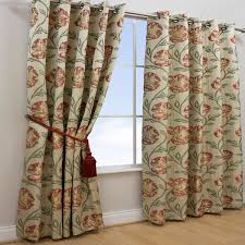 Floral Lined Curtains Scatter Box Maisey Floral Jacquard Woven Lined Eyelet Curtains Ebay
