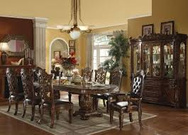 formal dining table decorating ideas traditional formal dining room unique carved pedestal legs