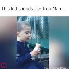 Iron Man Meme - this kid sounds like iron man meme coub gifs with sound