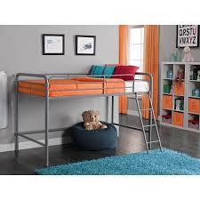 junior metal loft bed multiple colors walmart com