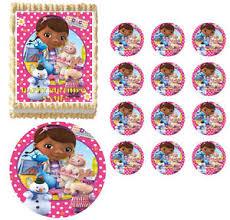 doc mcstuffins cupcake toppers doc mcstuffins flowers edible cake topper image cupcakes edible