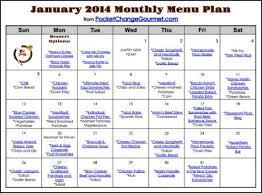 january menu plan 2014 pocket change gourmet