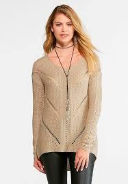 cato sweaters open stitch tunic sweater plus pullovers cato fashions
